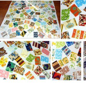Other - Vintage quilt blocks - fabric squares lot